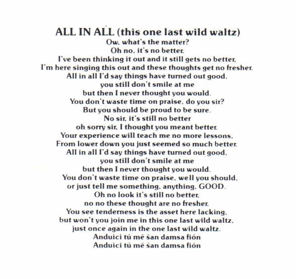 All In All Lyrics