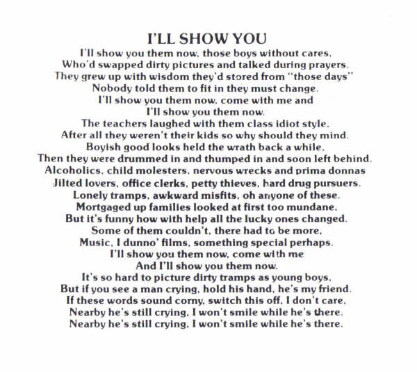 I'll Show You Lyrics