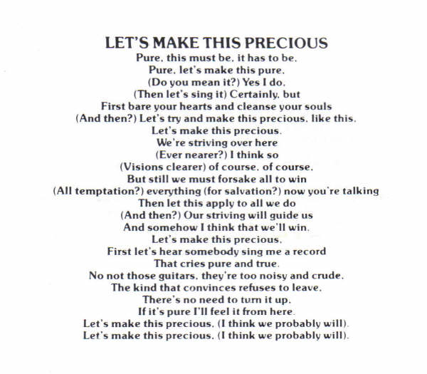 Let's Make This Precious Lyrics